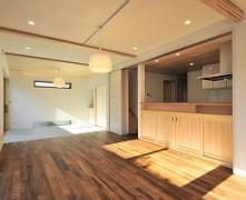 収納も充実の大空間の無垢の家 K様邸