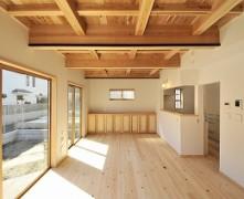 【紀州産檜・杉】構造材表わし天井の無垢の家 K様邸