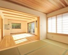 北海道産タモと和室が融合した無垢の家 K様邸